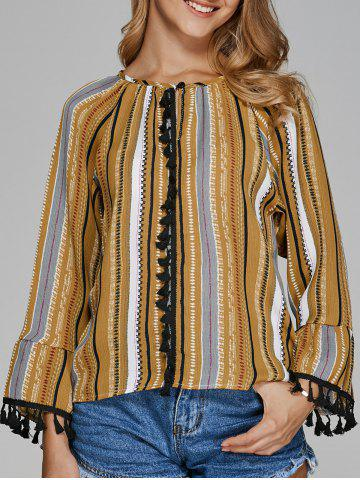 Store Colorful Striped Tribe Print Blouse