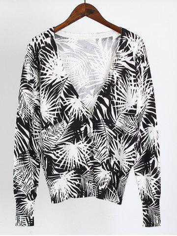 Store Buttoned Printed Cardigan