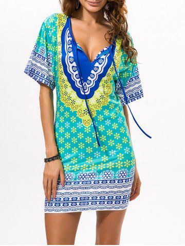 New Printed Beach Bodycon Dress GREEN ONE SIZE