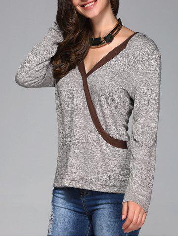 Outfits Contrast Trim Hoodie