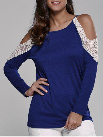 Store Cold Shoulder Lace Insert Blouse