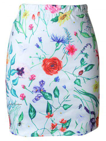 Trendy High Waist Floral Print Bodycon Skirt
