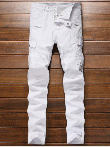 Shops Multi-Pocket Zippered Ribbed Insert Jeans