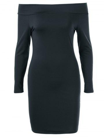 Store Off The Shoulder Slimming Bodycon Dress