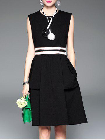 Store See-Through Mesh Patchwork Swing Dress
