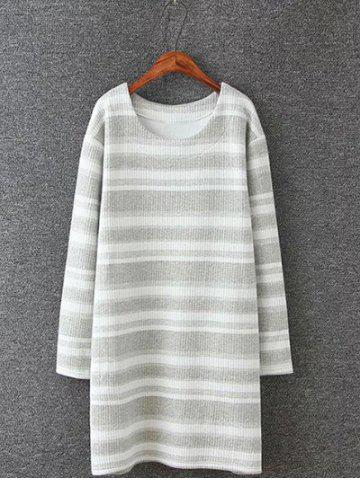 New Plus Size Stripe Knitted Dress