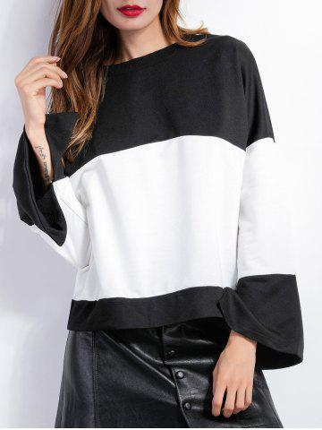 Store Long Sleeve Color Block Blouse