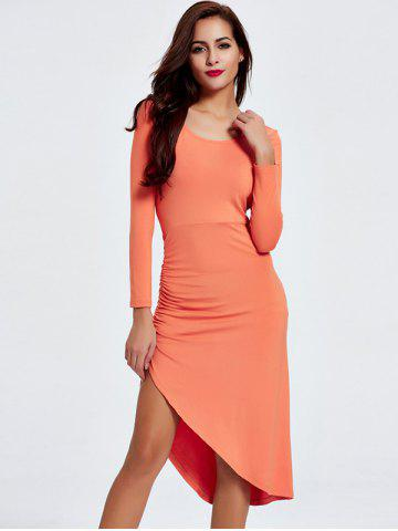 Outfit Ruched Open Back Asymmetric Dress