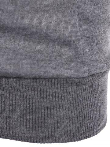 Discount Slim Pockets Design Pullover Neck Hoodie - M GRAY Mobile