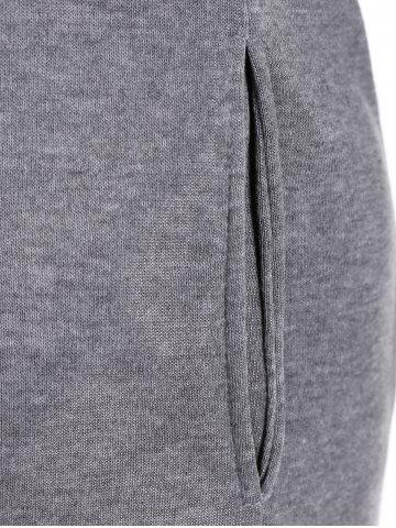Outfit Slim Pockets Design Pullover Neck Hoodie - M GRAY Mobile