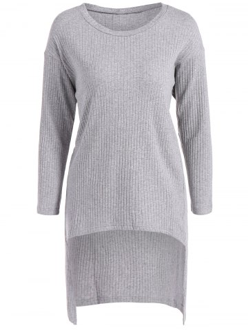 Store Long Sleeve High Low Sweater