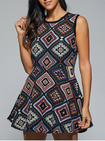 Outfit Ethnic Geometrical Print Dress