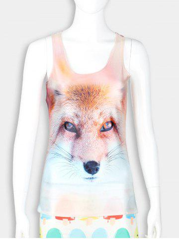 Outfits 3D Fox Print Racerback Tank Top