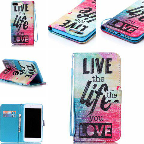 Sale Letter Quote Sea PU Leather Phone Case For iPhone 7 Plus - COLORFUL  Mobile