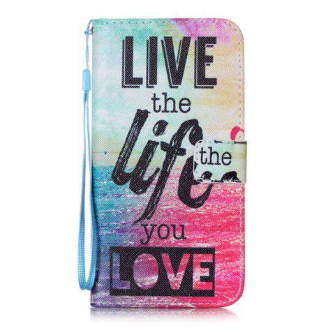 New Letter Quote Sea PU Leather Phone Case For iPhone 7 Plus - COLORFUL  Mobile