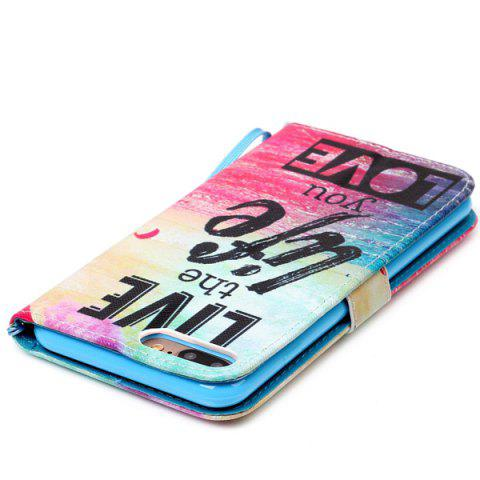 Best Letter Quote Sea PU Leather Phone Case For iPhone 7 Plus - COLORFUL  Mobile