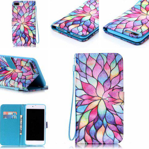 Cheap Colorful Lotus PU Leather Wallet Design Case For iPhone 7 Plus