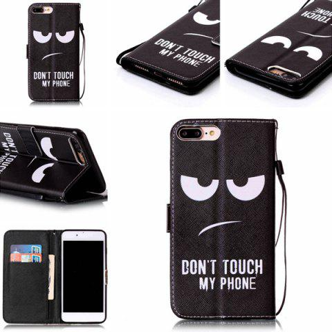 Fancy Angry Eyes Leather Wallet Design Cover Case For iPhone 7 Plus