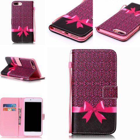 Buy PU Leather Wallet Design Leopard Bowknot Cover For iPhone 7 Plus