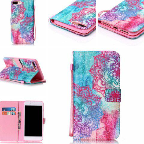 Unique Flower PU Leather Wallet with Card Slot Case For iPhone 7 Plus