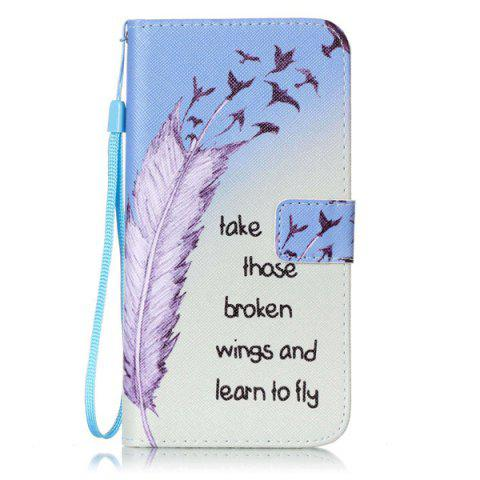 New Feather Quote Wallet Design Phone Case For iPhone 7 Plus - COLORMIX  Mobile