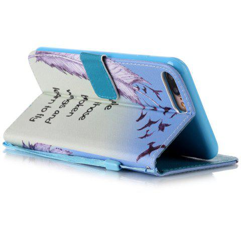 Shop Feather Quote Wallet Design Phone Case For iPhone 7 Plus - COLORMIX  Mobile