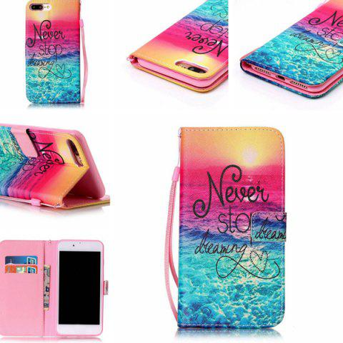 New PU Wallet Design Stop Dreaming Quote Phone Case For iPhone 7 Plus -   Mobile