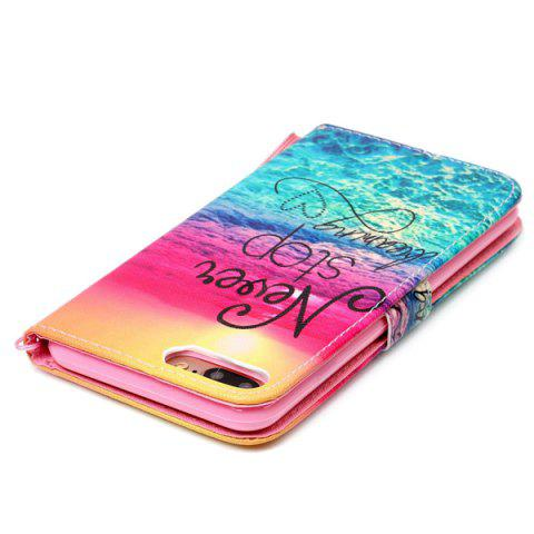 Discount PU Wallet Design Stop Dreaming Quote Phone Case For iPhone 7 Plus -   Mobile
