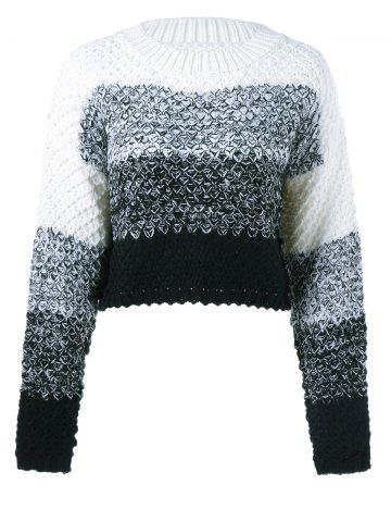 Hot Textured Contrast Color Sweater