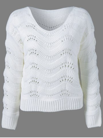 Store Ribbed Openwork Sweater