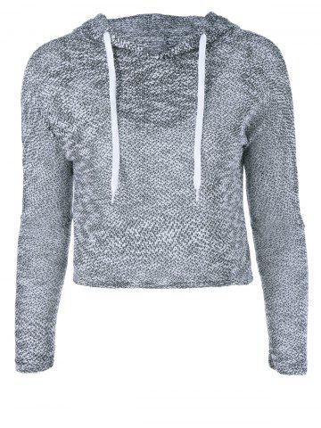 Online Heathered Drawstring Hoodie COLORMIX ONE SIZE