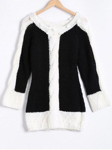 Affordable Twist Jacquard Hand-Knitted Sweater