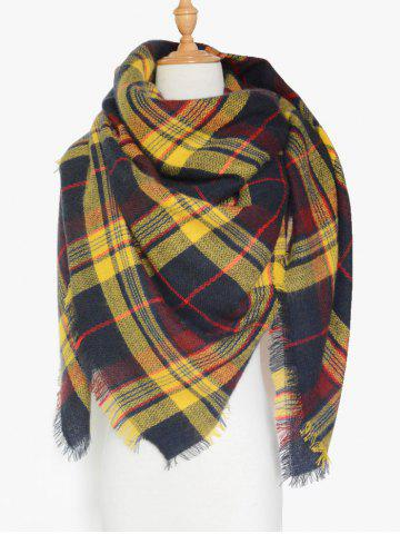 Shop Winter Tartan Fringed Shawl Scarf