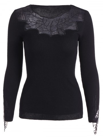 Latest Leaf Pattern Lace Knitwear