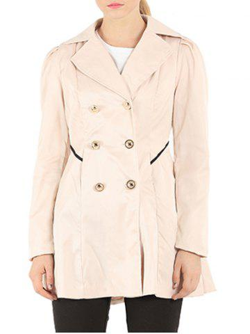 Chic Slim Fit Double Breasted Dressy Trench Coat