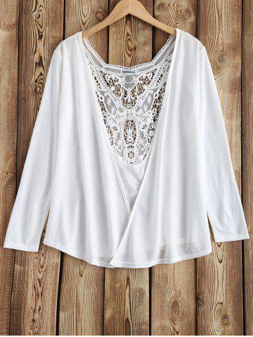 Shop Lace Splicing Openwork Cardigan