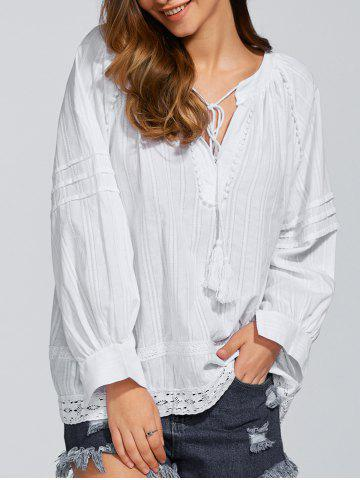 Shops Long Sleeve Loose Fitting Casual Blouse