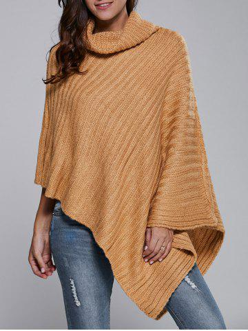 Affordable Batwing Sleeve Turtle Neck Cape Sweater
