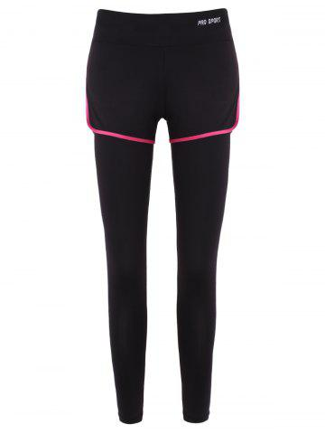 Outfits Slim Covered Edge Fake Twinset Leggings