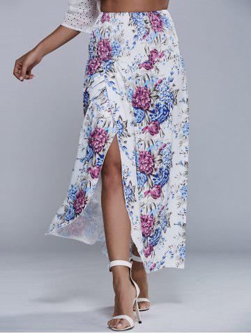 Fashion High Waist Vintage Floral Print Smock Skirt