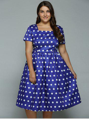 Affordable Plus Size Polka Dot Swing Dress