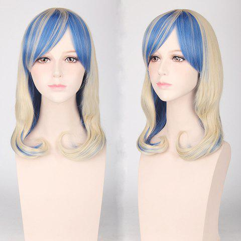 Fancy Medium Side Bang Tail Adduction Cosplay Harajuku Lolita Synthetic Wig COLORMIX
