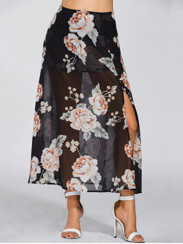 Shop High Waisted Floral Print Maxi Skirt