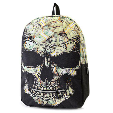Cheap Color Block Grimace Pattern Bill Print Backpack