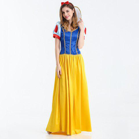 Shop Halloween Cosplay Party Princess Costume Set - M BLUE+YELLOW+RED Mobile