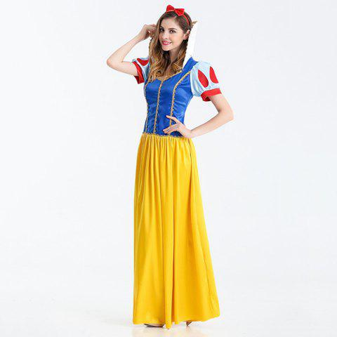Fashion Halloween Cosplay Party Princess Costume Set - M BLUE+YELLOW+RED Mobile