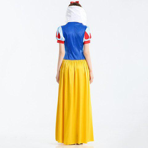 Cheap Halloween Cosplay Party Princess Costume Set - M BLUE+YELLOW+RED Mobile