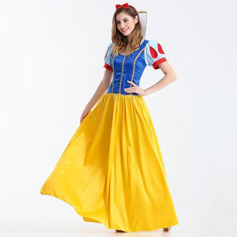 Unique Halloween Cosplay Party Princess Costume Set - M BLUE+YELLOW+RED Mobile