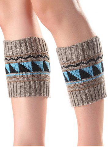 Sale Warm Triangle Wavy Pattern Knit Boot Cuffs