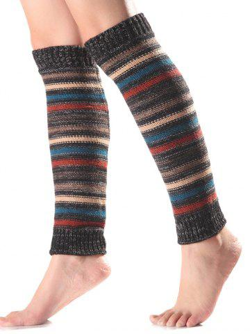 Latest Warm Horizontal Stripe Knit Leg Warmers